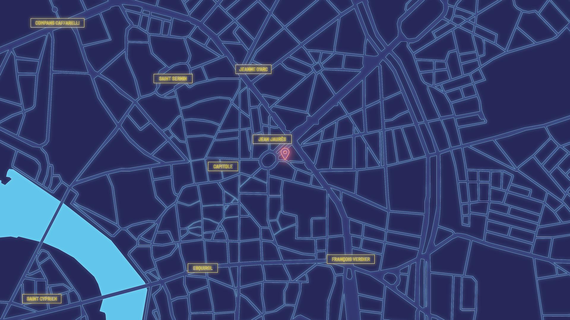 cosmopolitain restaurant bar map neon